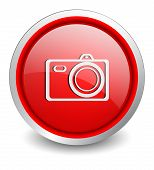 Digital Camera red button - design web icon