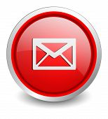 mail red button - design web icon