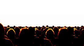 picture of movie theater  - Business Audience at convention or a Cinema - JPG