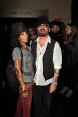 LOS ANGELES - JUL 12:  Linda Perry, Dave Stewart at the  Dave Stewart: Jumpin' Jack Flash & The Suic