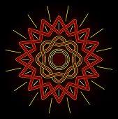 Neon Celtic Sun