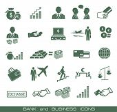 Finance , banking & business icons set.