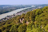picture of bonnes  - View on a city of Bonn from Drachenfels Germany - JPG