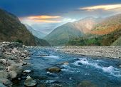 Mountain River Of The Himalayas