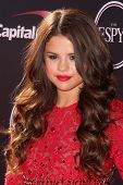 LOS ANGELES - JUL 17:  Selena Gomez arrives at the 2013 ESPY Awards at the Nokia Theater on July 17, 2013 in Los Angeles, CA