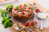 Strawberry Buttermilk Cake With Pistachios