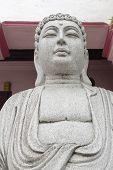 Stone Carved Buddha Sculpture Closeup