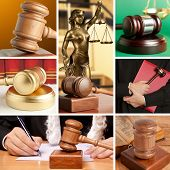 Set of wooden gavel and law 7