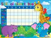 School timetable theme image 7 - eps10 vector illustration.