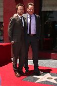 LOS ANGELES - JUL 16:  Aaron Paul, Bryan Cranston at the Hollywood Walk of Fame Star Ceremony for Br