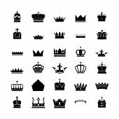 set of 30 silhouette royal crown collection