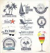 Summer Summer vacation and travel labelsVacation And Travel Labels.eps