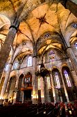 BARCELONA - JUNE 04: Cathedral of the Holy Cross and Saint Eulalia. It is the seat of the Archbishop