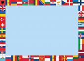 European Flags frame