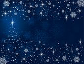 stock photo of yule  - Abstract winter blue background - JPG