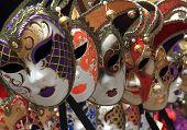 Group of Vintage venetian carnival masks