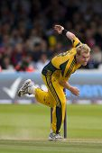 LONDON - 12 SEPT 2009; London England: Australia team player Brett Lee during the Nat West, 4th one