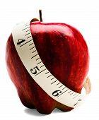 Постер, плакат: Измерительная лента обернута вокруг Apple