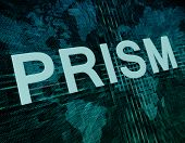 picture of prism  - Words on digital world map concept - JPG
