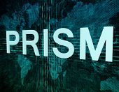 stock photo of prism  - Words on digital world map concept - JPG