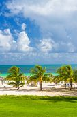 Tropical Resort am Strand von Coco Schlüssels (Cayo Coco) in Kuba