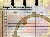 Grunge Subject Revision Table Edges