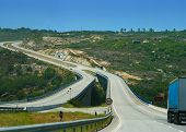 Speed Mountain Highway In Portugal