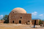 Mosque Of Sultan Ibrahim Han In Rethymno At Crete
