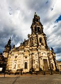 Katholische Hofkirche (Catholic Church of the Royal Court) Dresden. Germany