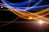 image of deformed  - Futuristic technology wave background design with lights - JPG