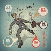 Template For Infographic On Deadline In Business