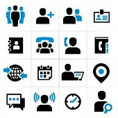 Business mensen icons set