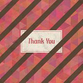 Vintage Retro Thank You Vector Card
