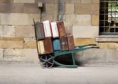 Vintage luggage trolley