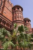 Towers Of Red Fort (lal Qila). Old Delhi, India