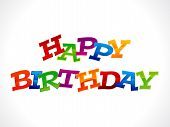 Abstract Colorful Happy Birthday Text