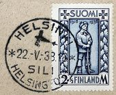 Finnish Soldier Stamp