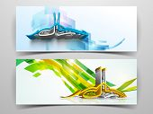 Website header or banner set with arabic Islamic calligraphy of text Eid Mubarak.