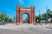 Barcelona, Spanien - 21. Juli: Arc De Triomf wurde für die Weltausstellung 1888 als seine wichtigsten Ac gebaut