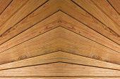 Symmetrical Wooden Slats Background.