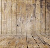 foto of dirty  - old wooden room - JPG