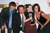 Paul Dano and Greg Kinnear with Abigail Breslin and Toni Collette in the press room at the 12th Annual Critics' Choice Awards. Santa Monica Civic Auditorium, Santa Monica, CA. 01-12-07