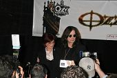 Sharon Osbourne and Ozzy Osbourne at the OZZFEST 2007 press conference. Century Plaza Hotel, Century
