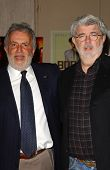 Sidney Ganis and George Lucas at the 44th Annual ICG Publicists Awards. Beverly Hilton Hotel, Beverly Hills, CA. 02-07-07