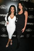 Kim Kardashian and Brittny Gastineau at
