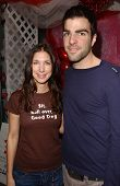 Rachel Weil and Zachary Quinto at