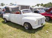 White Studebaker Convertible