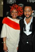 John Legend and his Mother at