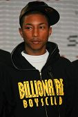 Pharrell Williams at a press conference to Announce the Global Climate Crisis Campaign Concert