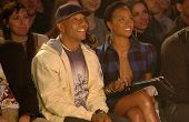 Russell Simmons and Eva Pigford inside at the 2006 GM TEN Fashion Show. Paramount Studios, Hollywood